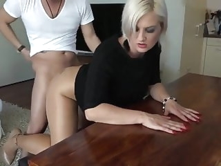 blowjob amateur Mature content(tan shiny pantyhose)