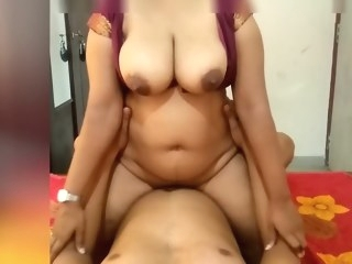 asian amateur Indian Maroon Girl Riding on Me and Make Me Cum On Her Big Boobs